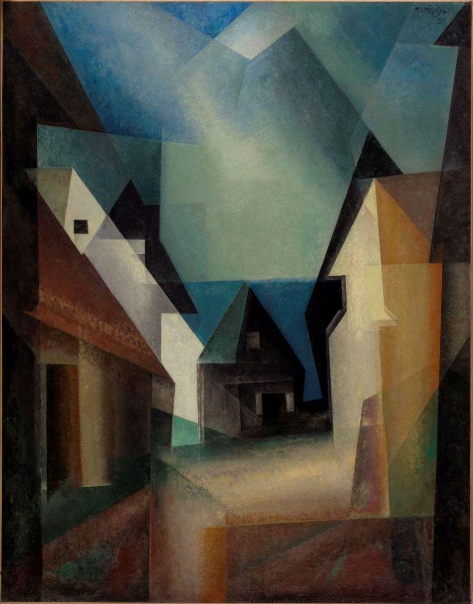 Lyonel Feininger: Gaberndorf II, 1924. ©The Nelson-Atkins Museum of Art, Kansas City, Missouri. Gift of a group of the Friends of Art