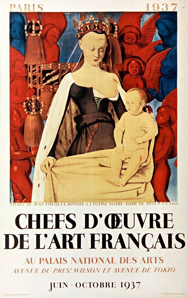 """Plakatmotiv für die Ausstellung """"Chefs-d'Œuvre de l'Art français"""""""