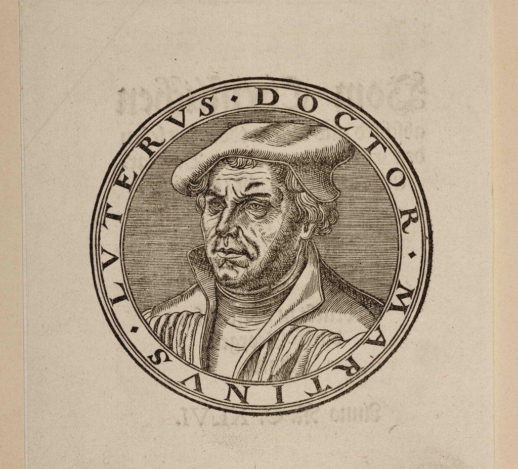 Lucas Cranach (der Ältere): Medaillon mit Porträt Martin Luthers, Holzschnitt © Staatliche Museen zu Berlin, Kupferstichkabinett / Volker-H. Schneider