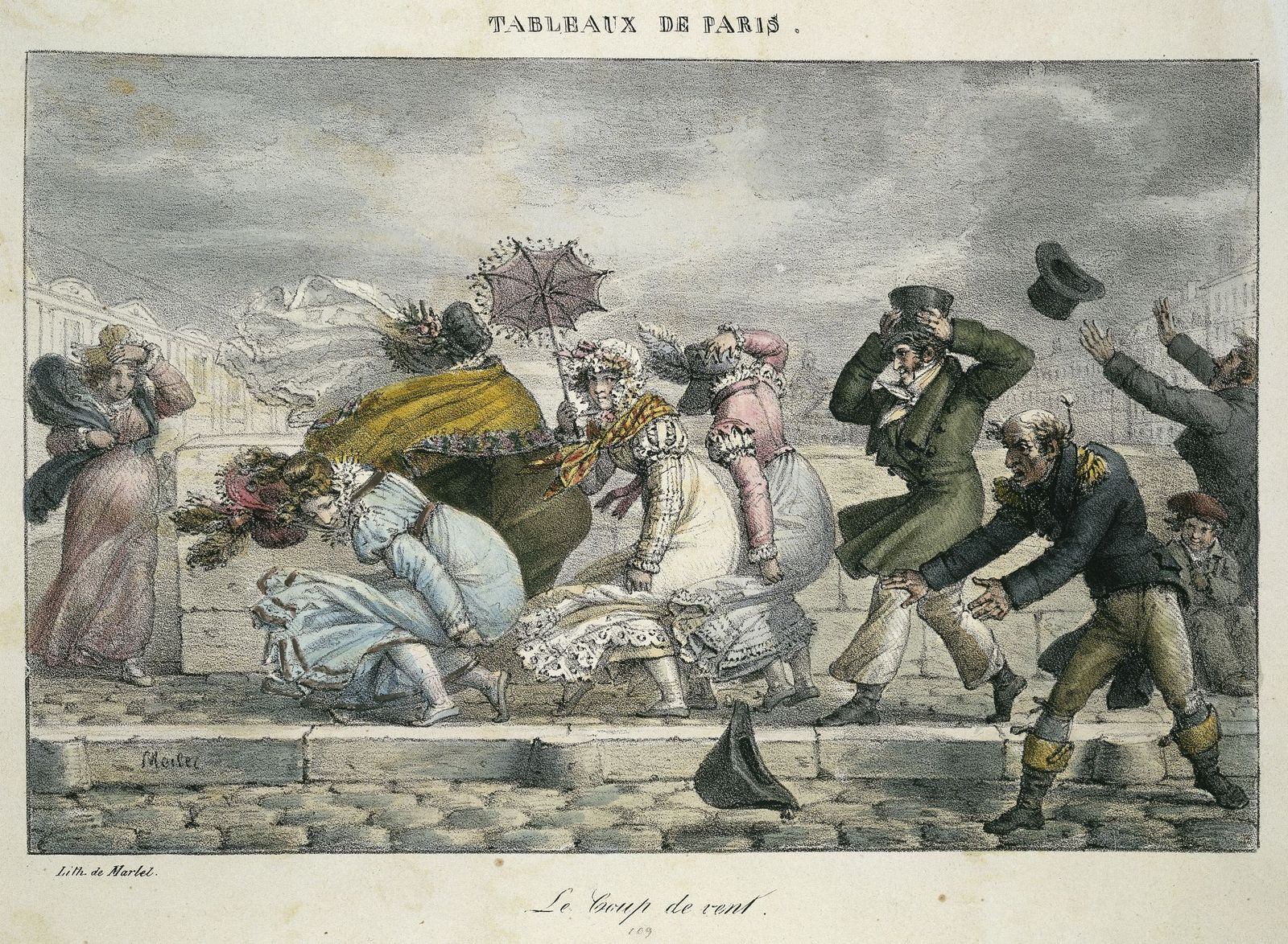 Jean Henri Marlet: Der Windstoß, 1821; Copyright: bpk / Kunstbibliothek, SMB / Knud Petersen