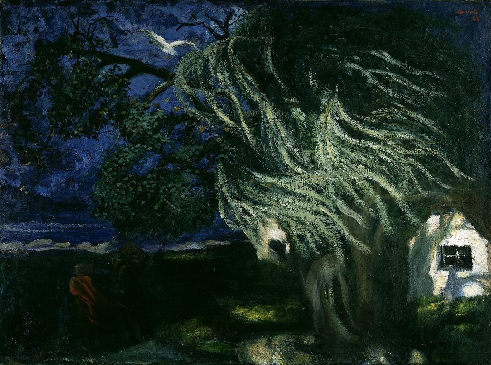 Pol Cassel: Sturm auf Hiddensee, 1928; Copyright:  bpk / Nationalgalerie, SMB