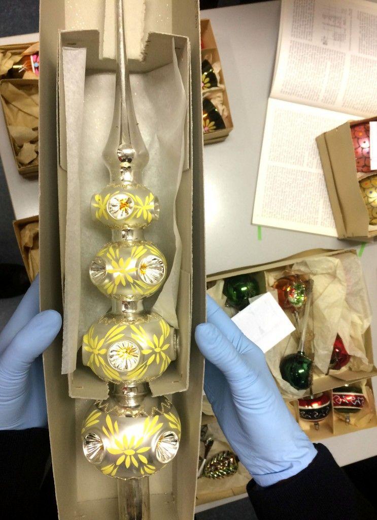 Die gläserne Weihnachtsbaumspite © Staatliche Museen zu Berlin, Museum Europäischer Kulturen / Maxie Kiwitter