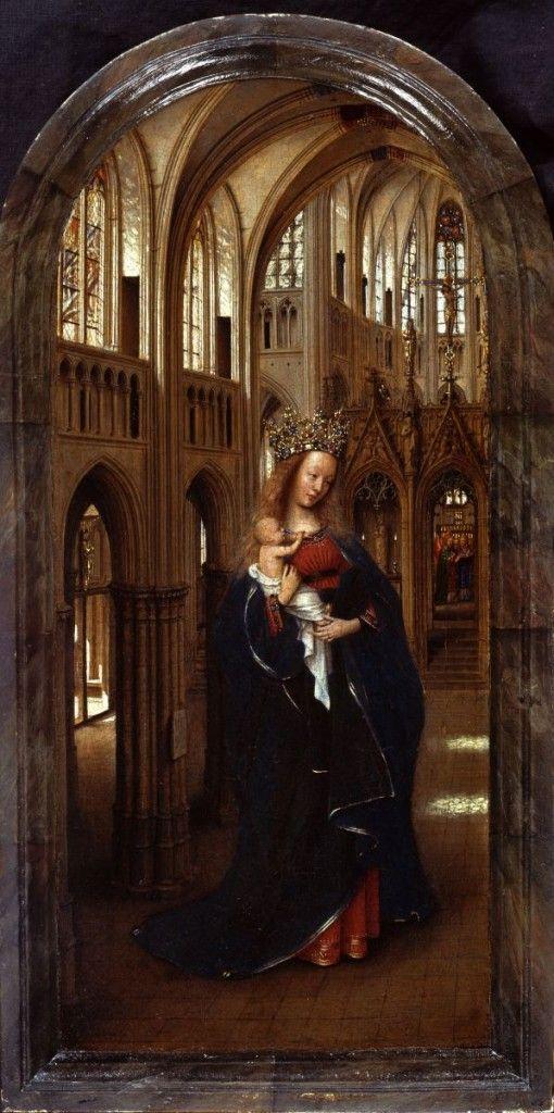 Jan van Eyck: Die Madonna in der Kirche, um 1425 © Staatliche Museen zu Berlin, Gemäldegalerie