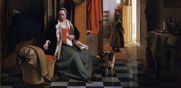 Pieter de Hooch: Die Mutter, um 1661/63 © Staatliche Museen zu Berlin, Gemäldegalerie