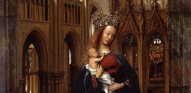 Jan van Eyck: Die Madonna in der Kirche, um 1425 © Staatliche Museen zu Berlin
