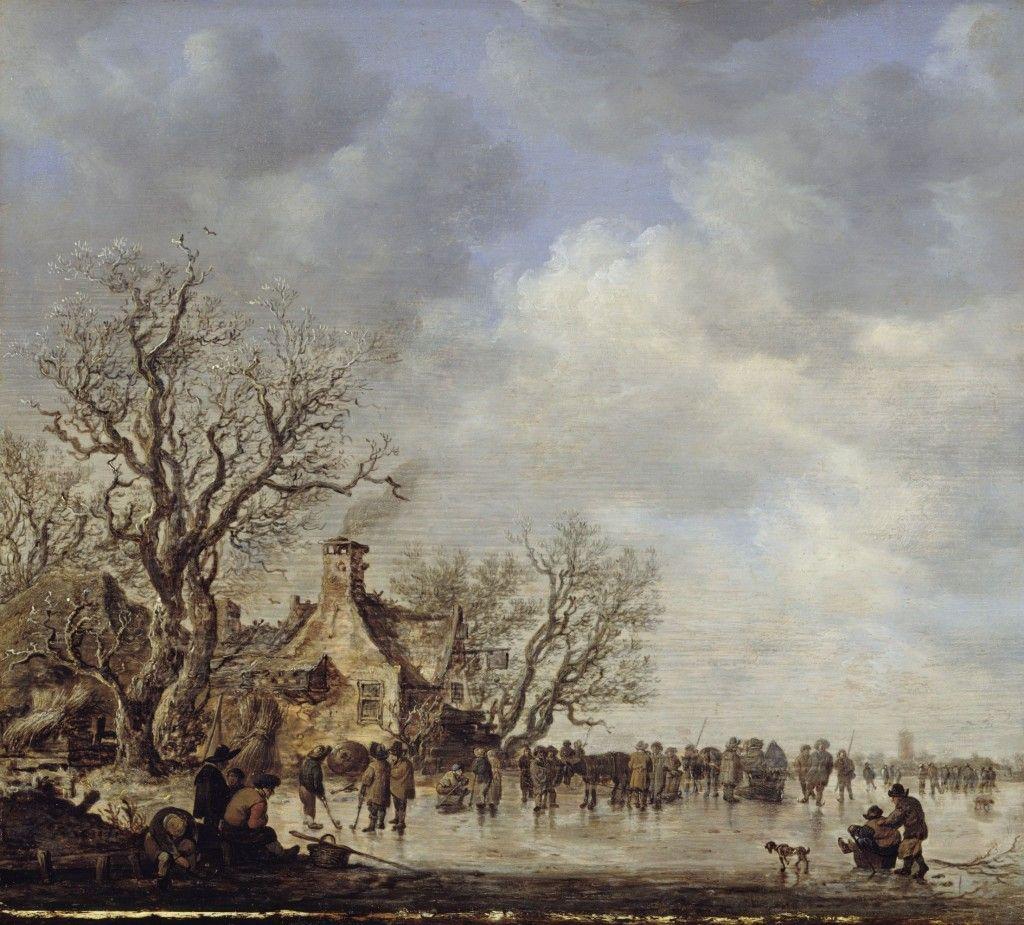 Jan van Goyen: Eisvergnügen vor einem Wirtshaus (17. Jh.); © Staatliche Museen zu Berlin, Gemäldegalerie / Jörg P. Anders