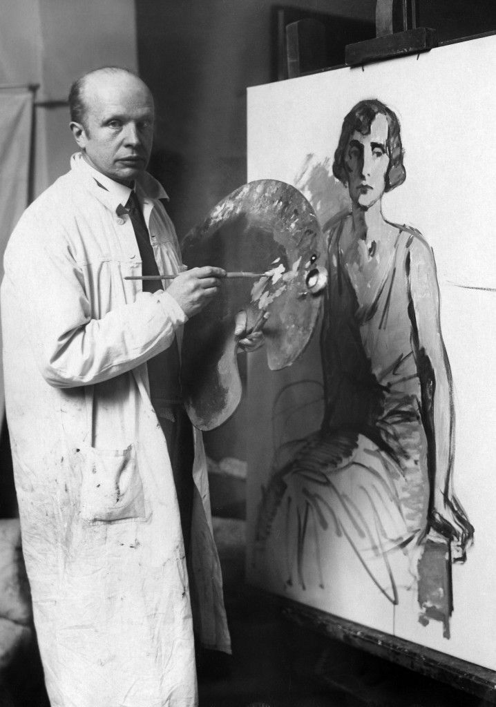 Willy Römer: Der Maler Leo von König in seinem Atelier bei der Arbeit (1931) © Staatliche Museen zu Berlin / Photothek Willy Römer / Willy Römer