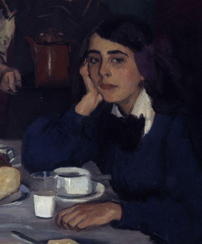 Leo von König: Am Frühstückstisch, 1907 (Detail) © Staatliche Museen zu Berlin, Nationalgalerie / Andres Kilger