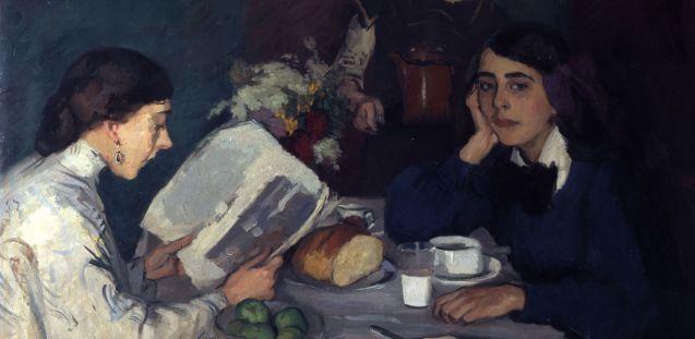 Leo von König: Am Frühstückstisch, 1907 © Staatliche Museen zu Berlin, Nationalgalerie / Andres Kilger