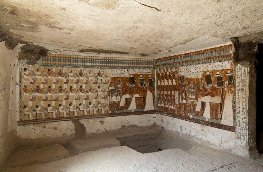 Wandmalereien im Grab des User (QHN 2), Bürgermeister von Elephantine, aus der Zeit Amenophis III. (um 1360 v. Chr.)( Foto: S. Steiß)