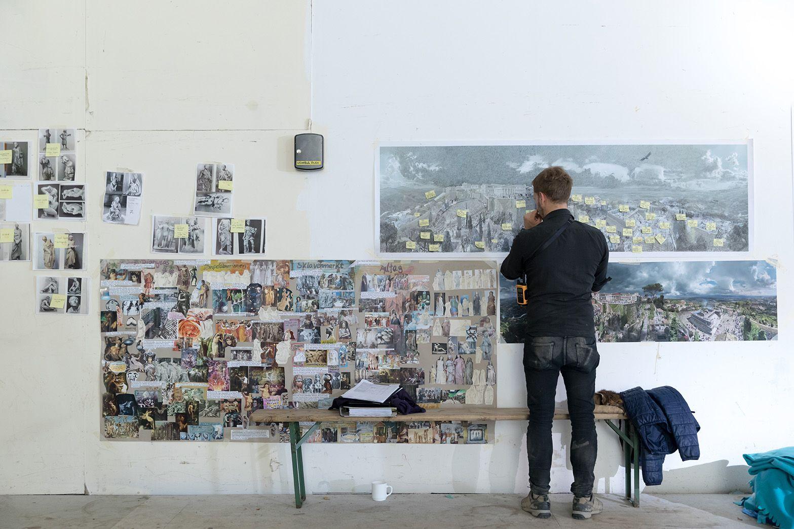 Storyboard für das neue Panorama. Foto: Tom Schulze © asisi