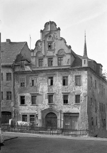 Peterstraße 7 während Rekonstruktionsarbeiten, 1983 © Jörg Schöner