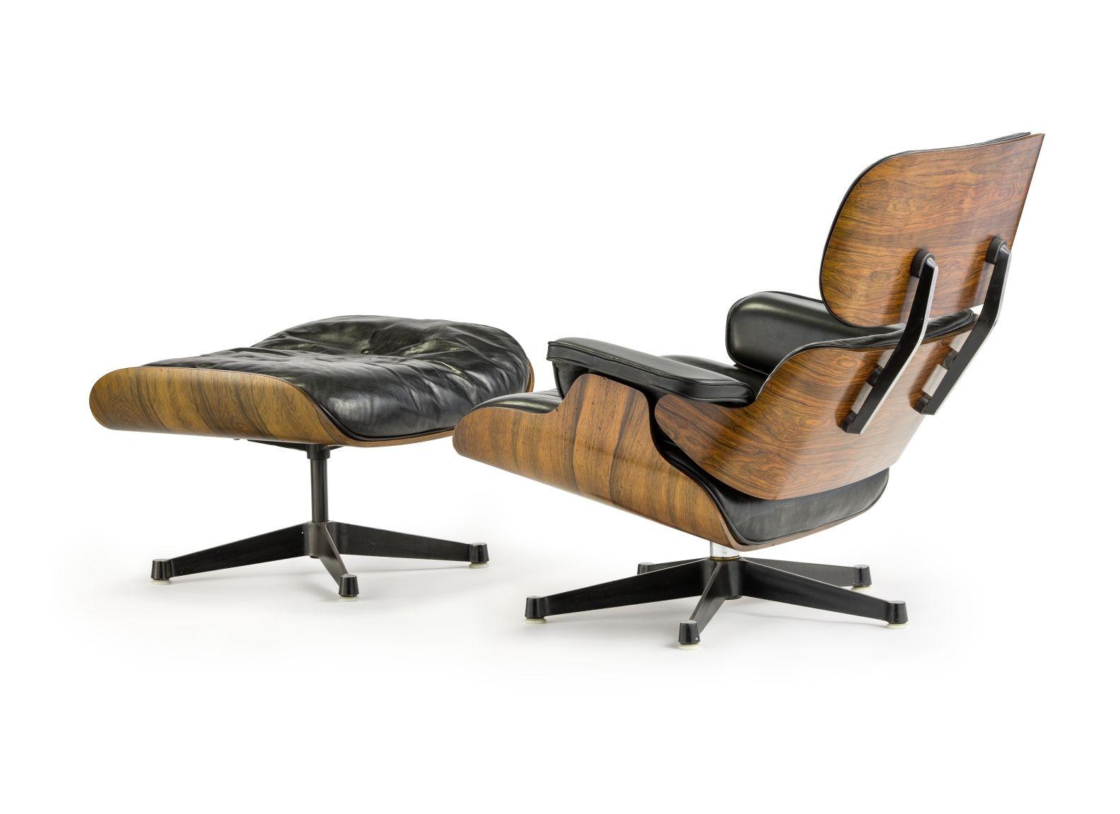 Lounge Chair mit Ottoman von Charles und Ray Eames, 1956 ©Staatliche Museen zu Berlin, Kunstgewerbemuseum / Stephan Klonk