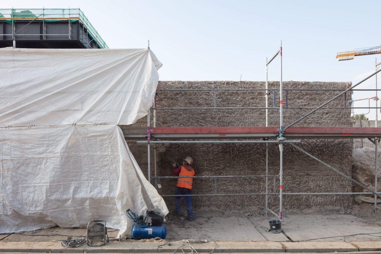 Die ersten Grundinstandsetzungsarbeiten an der Nationalgalerie im  September 2017 © Thomas Bruns