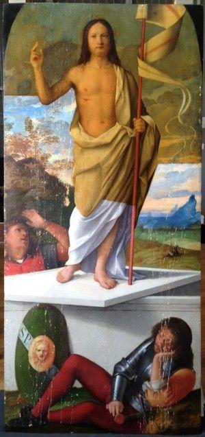Francesco Bissolo: Die Auferstehung Christi, Zwischenzustand  © Staatliche Museen zu Berlin, Gemäldegalerie / Foto: B. Hartwieg