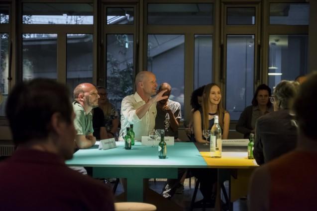 Experten im Bereich des Food Designs: Andrew Forkes, Stefan Hermsen und Johanna Schmeer beim Design Talk im Kunstgewerbemuseum © Staatliche Museen zu Berlin, Kunstgewerbemuseum/Kai von Kotze