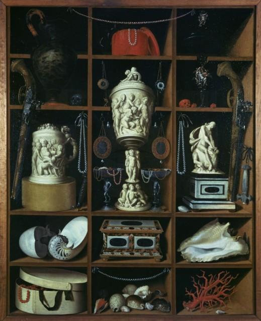 Das Prinzip Kunstkammer als Motiv für ein Stillleben. Johann Georg Hainz: Kleinodienschrank, 1666; © Staatliche Museen zu Berlin, Kunstgewerbemuseum/Arne Paille