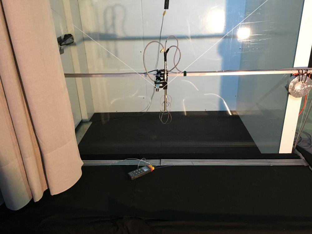 Aufbau für eine Reihe von Versuchen zur Klimasteuerung in der Neuen Nationalgalerie © SLT Schanze Lufttechnik Lingen