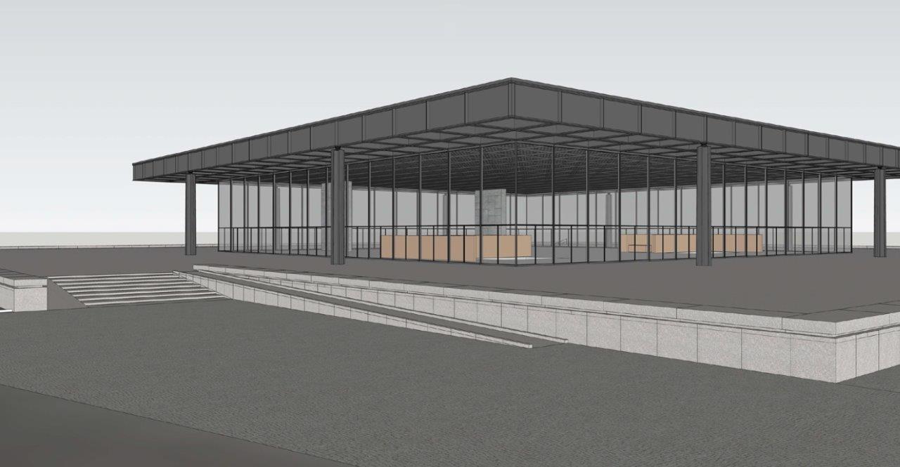 Planung für den Umbau der Rampe mit geringerer Steigung © David Chipperfield Architects für das Bundesamt für Bauwesen und Raumordnung (BBR)