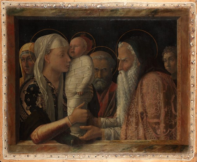 Mantegna, Andrea, Darbringung im Tempel, um 1453, Leinwand © Staatliche Museen zu Berlin, Gemäldegalerie