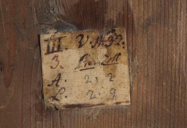 """Detail Rückseite, Darbringung im Tempel (""""Sammlung Solly"""") © Staatliche Museen zu Berlin, Gemäldegalerie"""