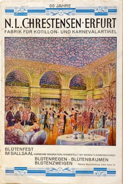 Musterkatalog für Festartikel der Firma Chrestensen, Erfurt, 1927.