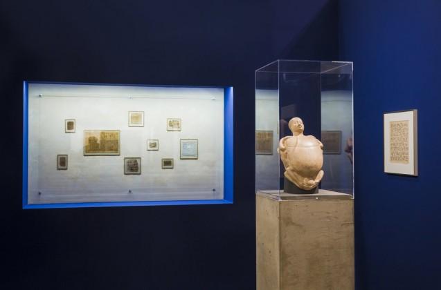 """""""Max Ernst, Zeichendieb"""", Ausstellungsansicht Sammlung Scharf-Gerstenberg, 2018  © Staatliche Museen zu Berlin, Nationalgalerie / David von Becker  © VG Bild-Kunst, Bonn 2019"""