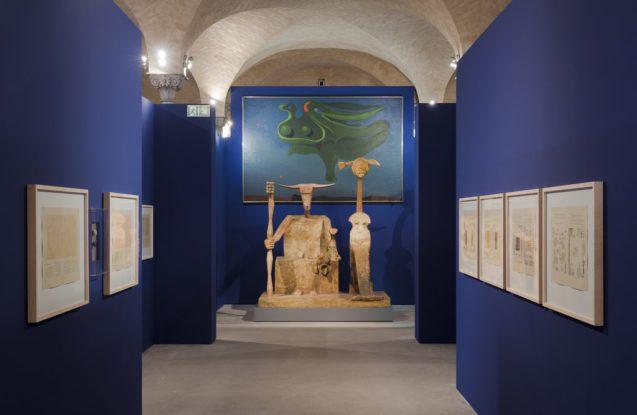 """""""Max Ernst, Zeichendieb"""", Ausstellungsansicht Sammlung Scharf-Gerstenberg, 2018  © VG Bild-Kunst Bonn, 2018 Staatliche Museen zu Berlin, Nationalgalerie / David von Becker"""