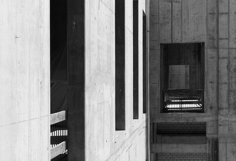 Fassade im Eosanderhof. Foto: Fabian Fröhlich