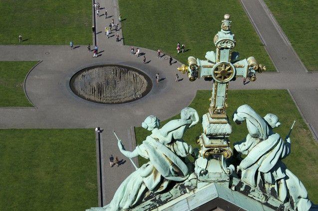 Blick vom Dom auf den Lustgarten