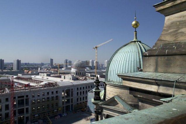 Blick vom Dom auf das Humboldt-Forum