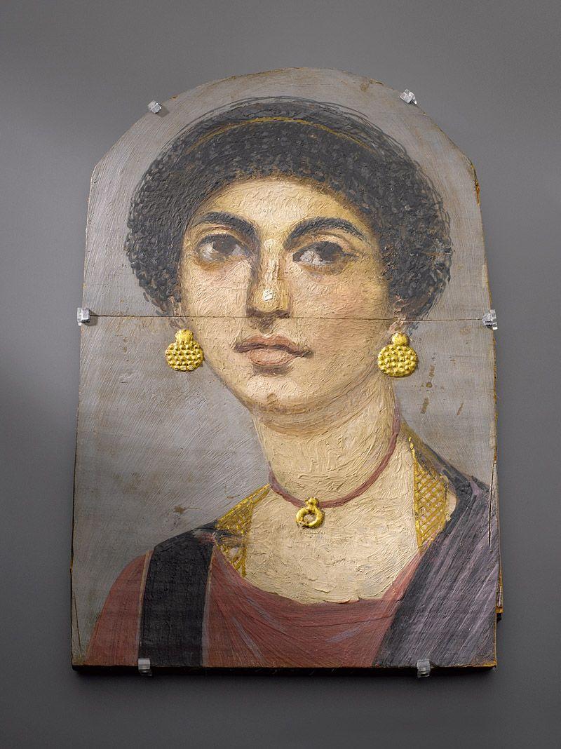 Mumienporträt einer Frau aus der römischen Kaiserzeit, um 70 n. Chr. © Staatliche Museen zu Berlin, Ägyptisches Museum und Papyrussammlung /Foto: Stefan Büchner