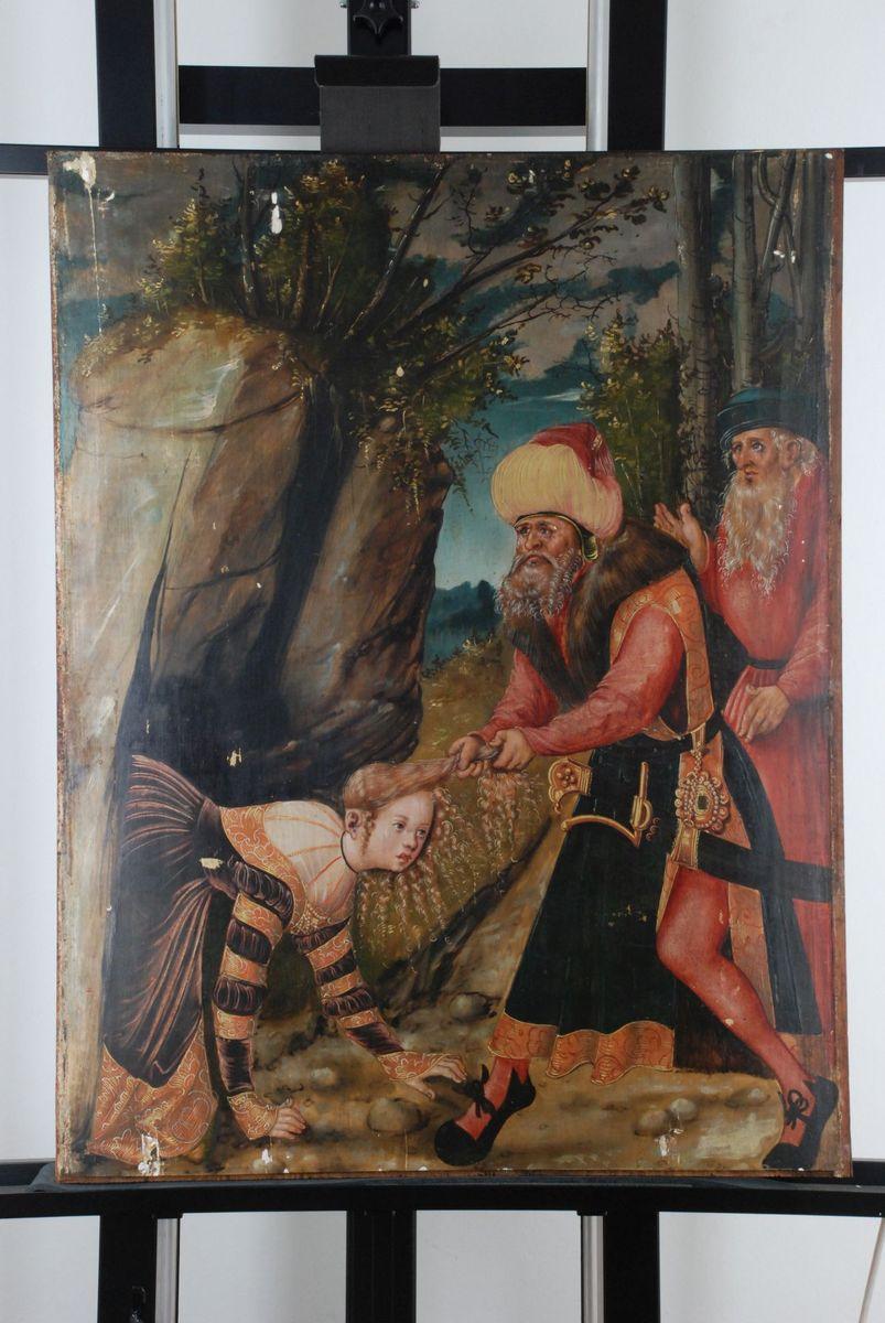 Tafel des Barbara-Retabels. Foto: Dörte Busch
