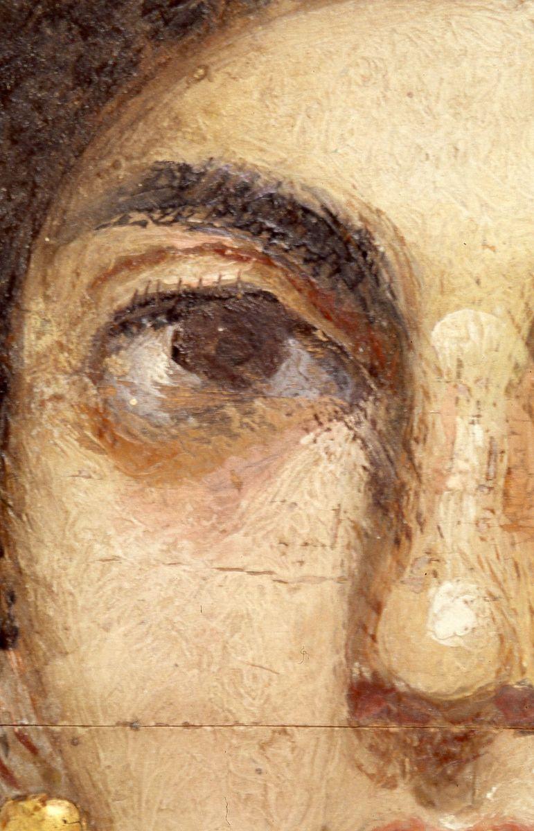 Detail des Mumienporträts © Staatliche Museen zu Berlin, Ägyptisches Museum und Papyrussammlung