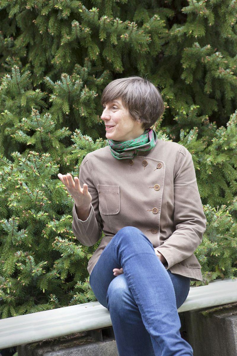 Agnes Wegner im Gespräch in Dahlem. Foto: Juliane Eirich