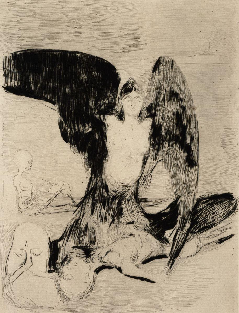 """Auch diesem weiblichen """"Vampyr"""" von Munch aus dem Jahr 1894 möchte man nicht im Schlaf begegnen. Foto: bpk / Sammlung Scharf-Gerstenberg, Volker-H. Schneider"""