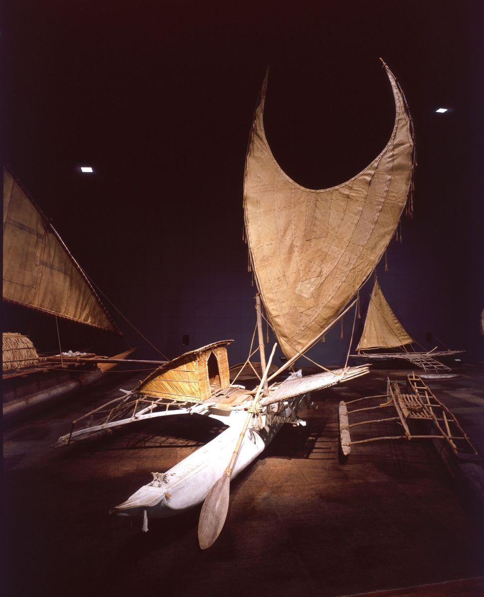 Segelboot, Santa Cruz-Inseln, 1960 (c) Staatliche Museen zu Berlin, Ethnologisches Museum / Dietrich Graf