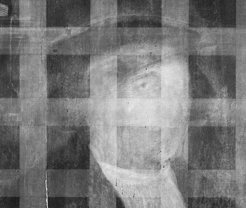 Detail aus der Radiografie, Gesicht