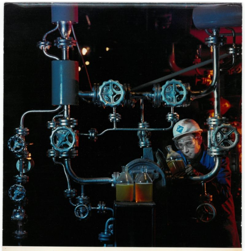 Ludwig Windstosser (1921-1983)  Aral, Benzin-Raffinerie, 1967  Farbpapier, Schenkung Peter Windstosser 2007 (c) Staatliche Museen zu Berlin, Kunstbibliothek