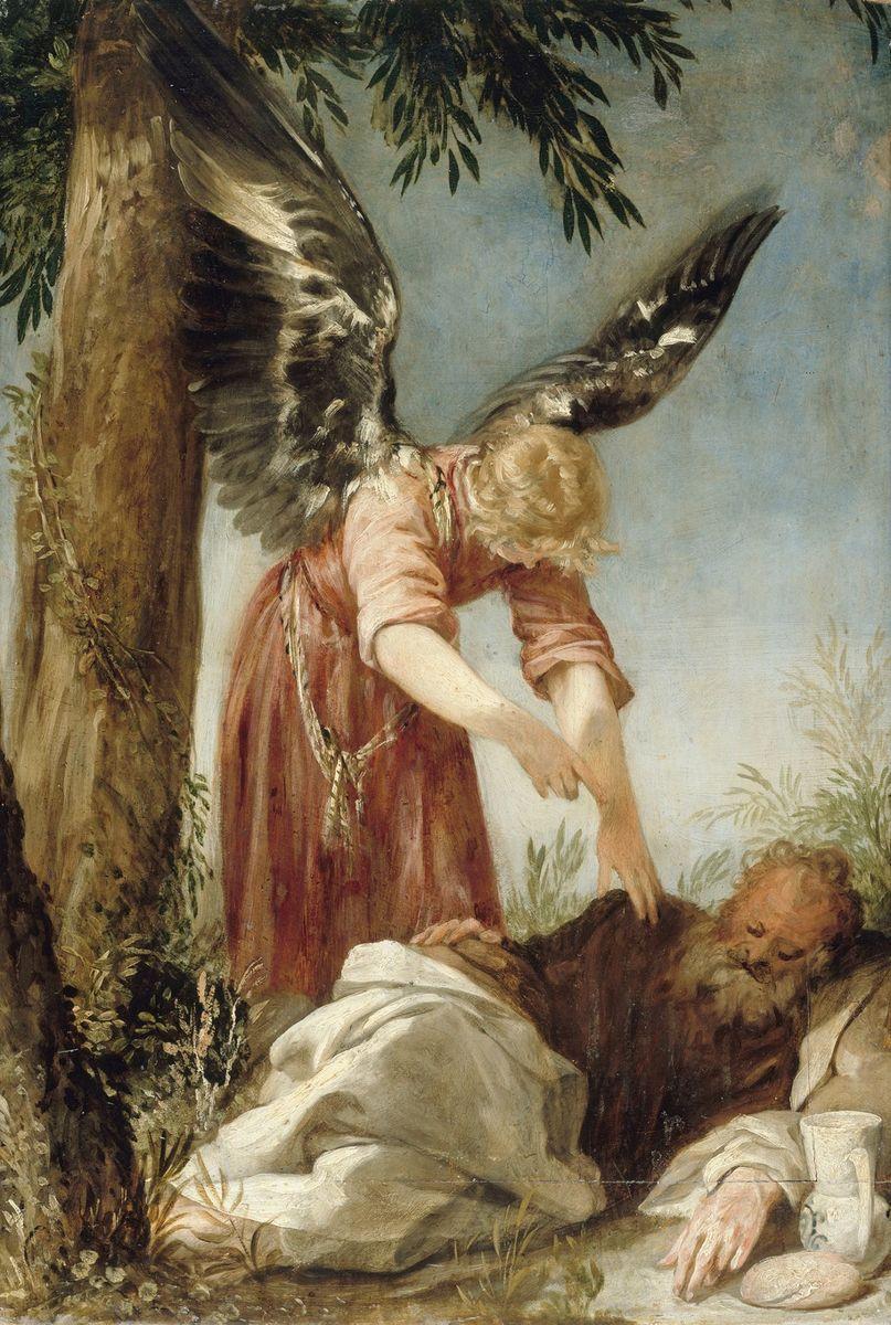Juan Antonio de Frias y Escalante: Der Engel erweckt den Propheten Elias in der Wüste, um 1650/60, © Staatliche Museen zu Berlin, Gemäldegalerie, Foto: Jörg P. Anders