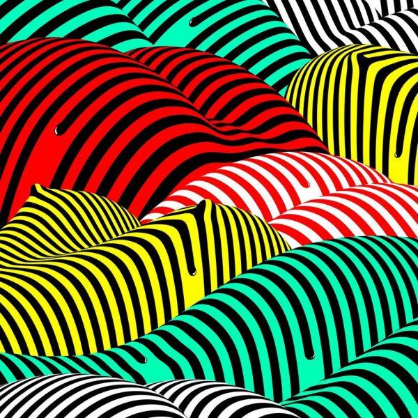 Timo Lenzen: Striped Hills (c) Timo Lenzen / 100 Beste Plakate e. V.