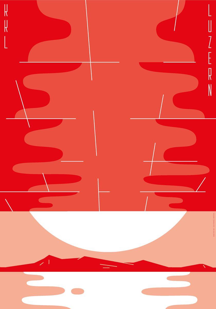 Martin Geel und Klaus Fromherz: KKL Luzern (c) Martin Geel und Klaus Fromherz (Peng Peng) / 100 Beste Plakate e.V-