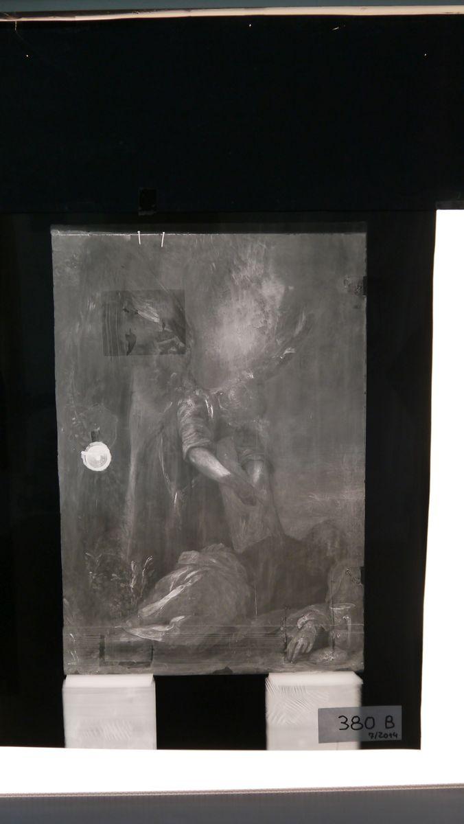 Die Röntgenaufnahme des Gemäldes offenbart bisher Verborgenes. Foto: SMB / Sven Stienen