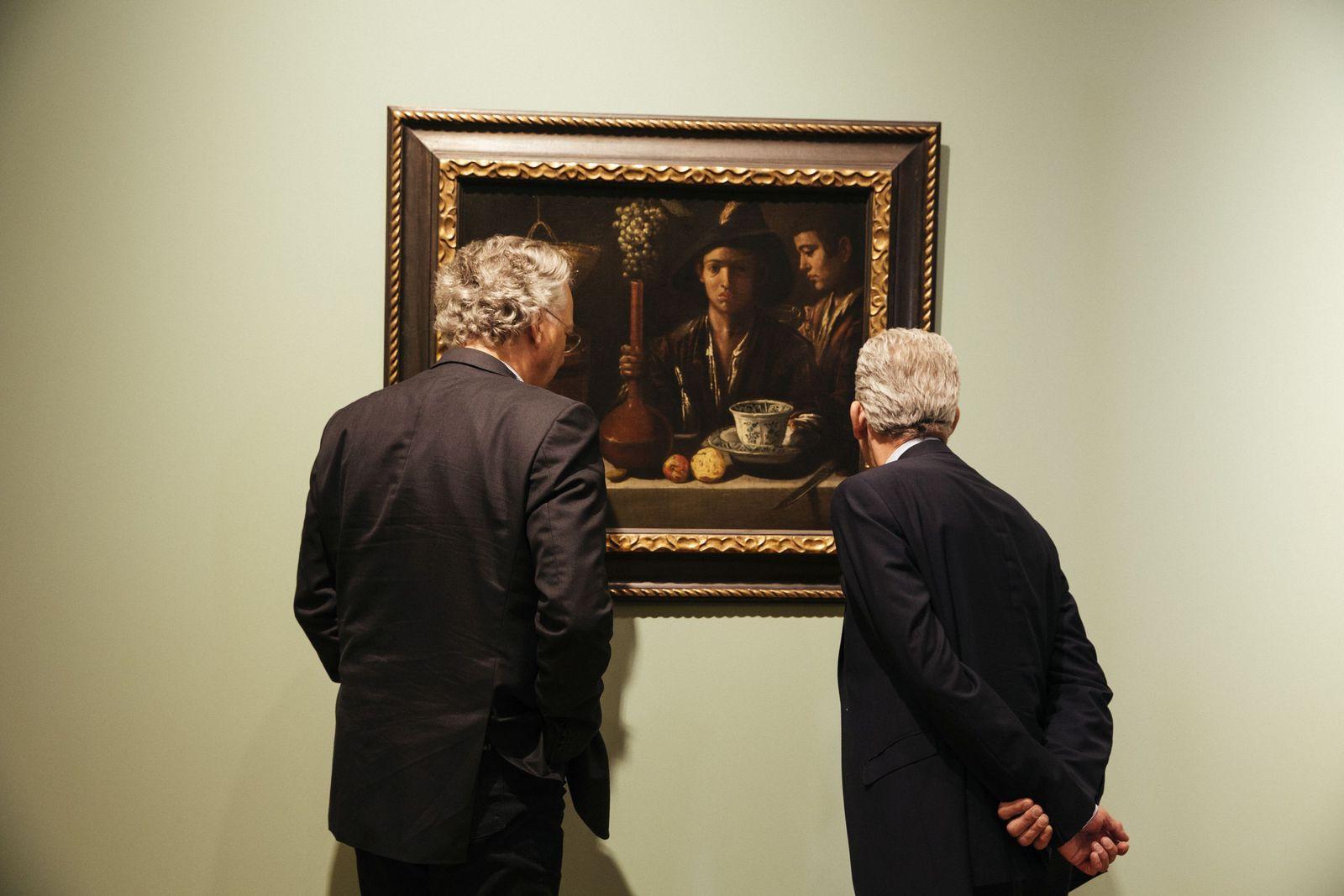 Michael Eissenhauer und Bernd Lindemann in der Gemäldegalerie. (c) Staatliche Museen zu Berlin / Daniel Hofer