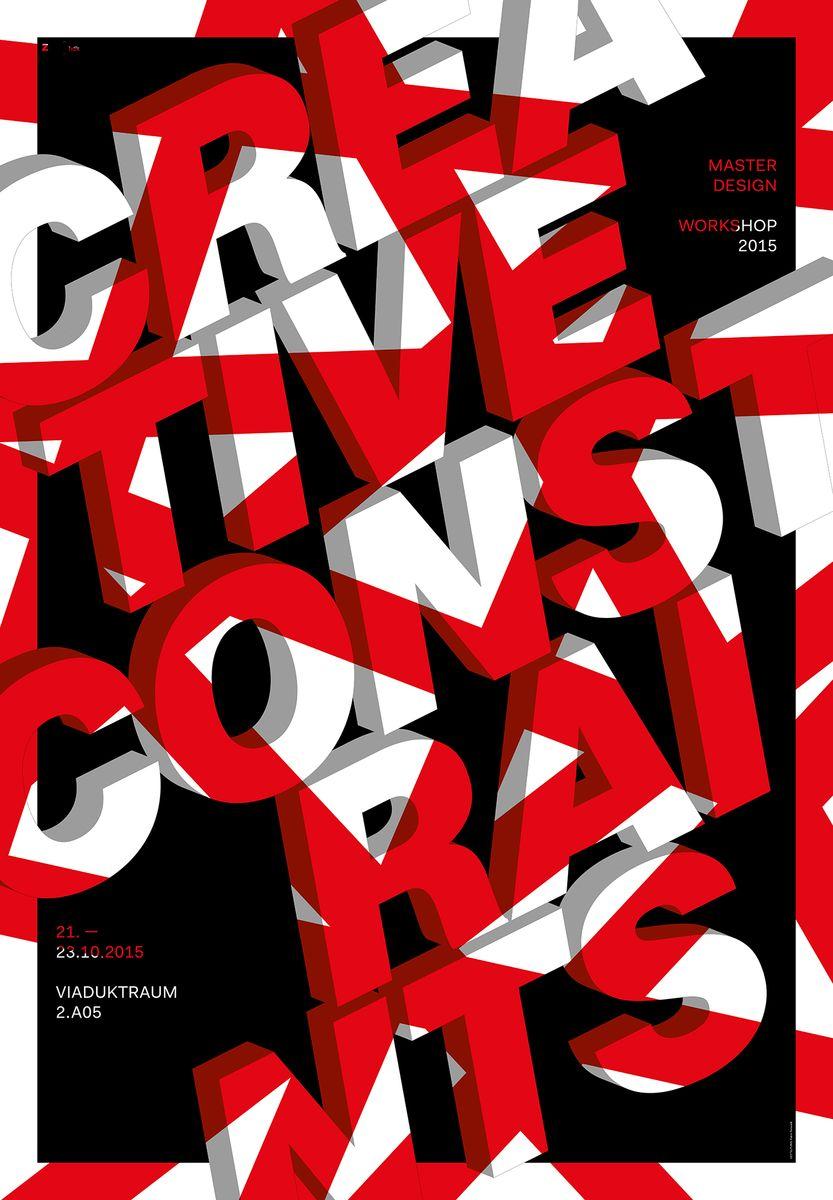 Patrik Ferrarelli (Zürich): Creative Constraints © Patrik Ferrarelli / 100 Beste Plakate e. V.