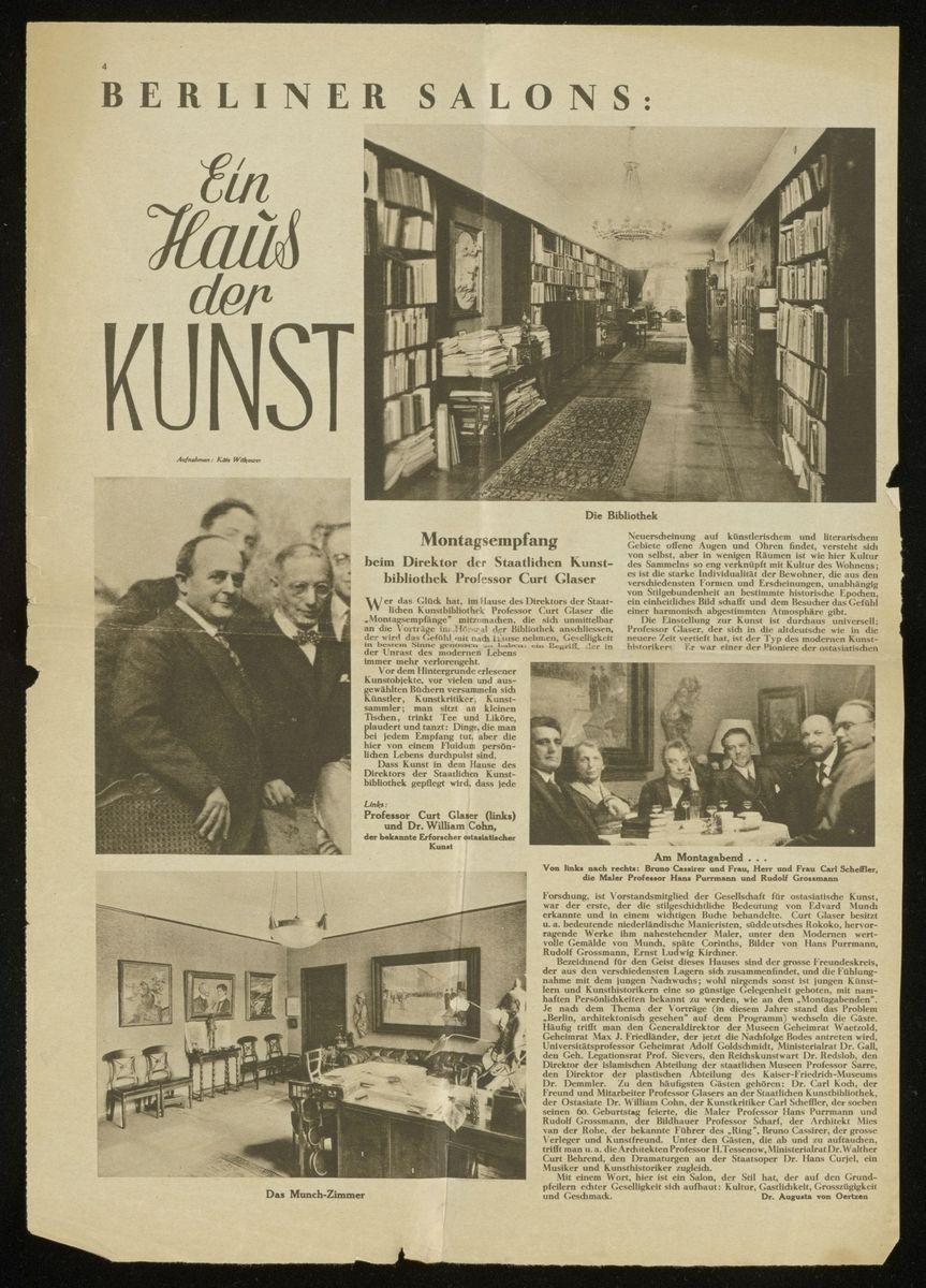 - Ausschnitt aus der Fotoreportage im Weltspiegel des Berliner Tageblatts vom 31. März 1929.