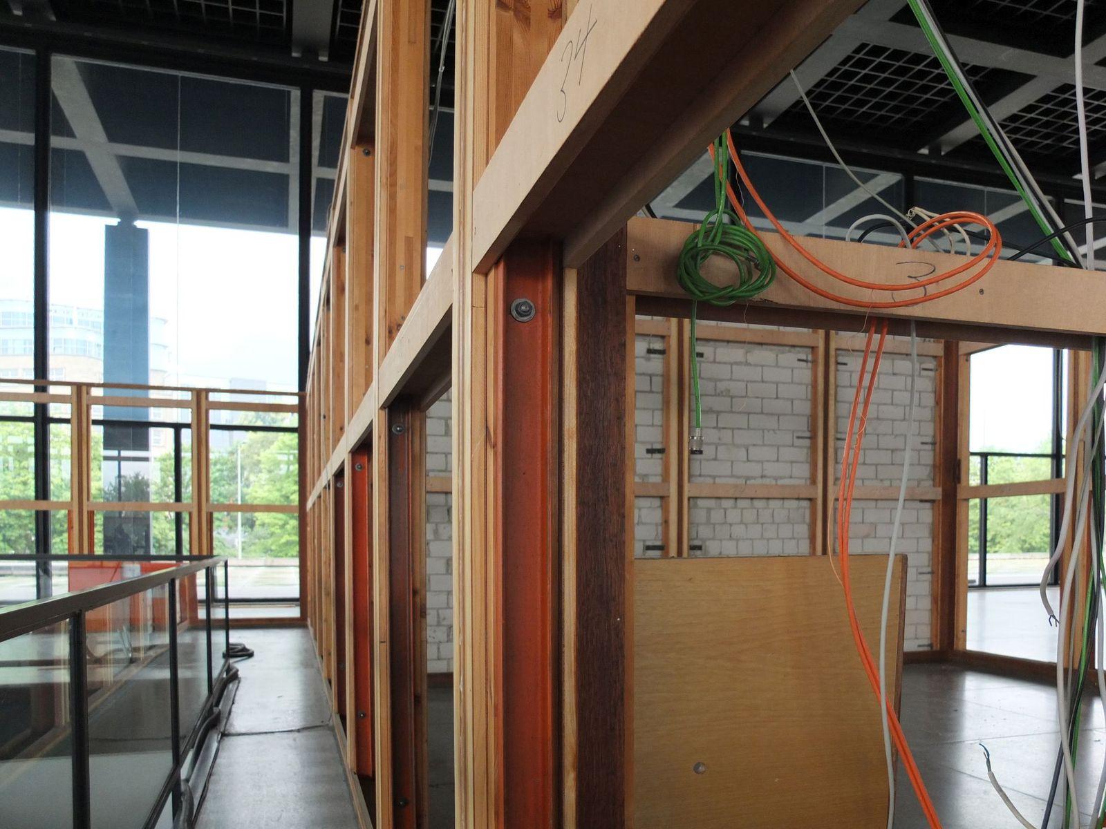 Unterkonstruktion der Garderobe. Foto: schmedding.vonmarlin