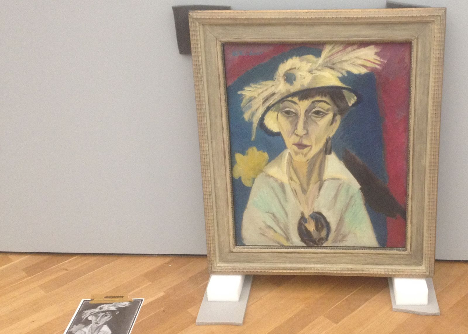 Ernst Ludwig Kirchner, Porträt Erna Schilling (1913)