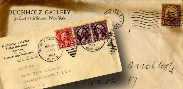 Briefe aus dem Nachlass von Karl Buchholz (Ausschnitt), © Staatliche Museen zu Berlin/ Zentralarchiv
