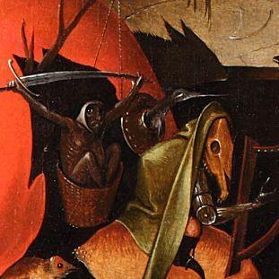 Detail aus Tryptichon der Versuchung des Heiligen Antonius (Kopie nach Hieronymus Bosch), um 1560 © Staatliche Museen zu Berlin, Gemäldegalerie, Hannah Prinz